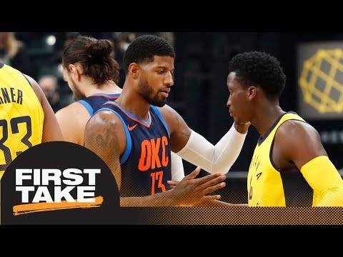 First Take debates which team won Paul George-Victor Oladipo trade | First Take | ESPN