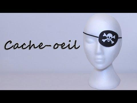 Cache-oeil pour costume de pirate