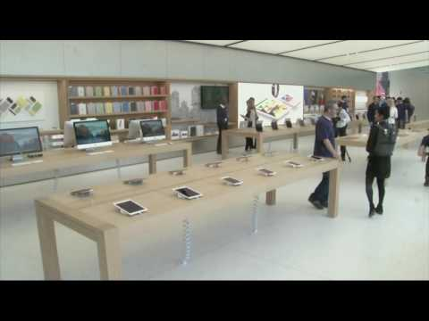 애플, 새 단장 소매점 공개  5.20.16  KBS America News