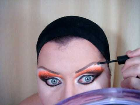 Drag queen Makeup Tutorial - Orange e Black