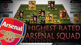 Highest Rated Arsenal Squad! - Over 1 Million Coins! - FIFA 13 Ultimate Team