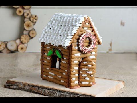 CHRISTMAS GINGERBREAD LOG HOUSE, HANIELA'S