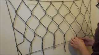 Video How to make a net using paracord or any other cordage (EASY) MP3, 3GP, MP4, WEBM, AVI, FLV Oktober 2018