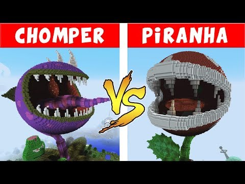 CHOMPER vs PIRANHA PLANT – PvZ vs Minecraft vs Smash