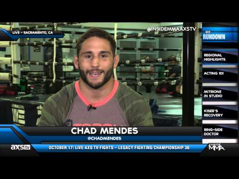 Conor - UFC featherweight contender Chad Mendes joined tonight's episode of AXS TV's Inside MMA to discuss his upcoming title shot versus Jose Aldo at UFC 179 Oct. 2...
