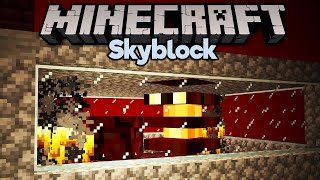 Nether Fortress Mob Spawner! • Minecraft 1.15 Skyblock (Tutorial Let's Play) [Part 16]
