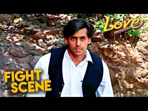 Salman Khan Fight Scene | Love Hindi Movie | Revathi | HD