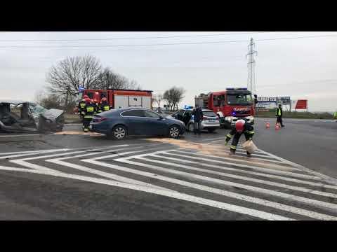 Wideo: Wypadek trzech aut w Głogowie