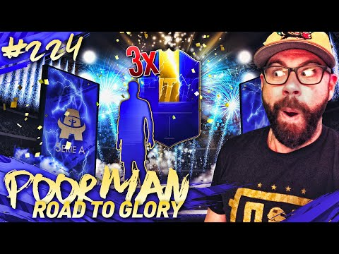 OMG I PACK 3x 92+ SERIE A TOTS WALKOUT PLAYERS!!! - POOR MAN RTG #224 - FIFA 19 Ultimate Team