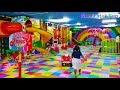 Balita Lucu Mandi Bola Perosotan Mainan Anak di Taman Bermain Anak Kids Zone Indoor Playground