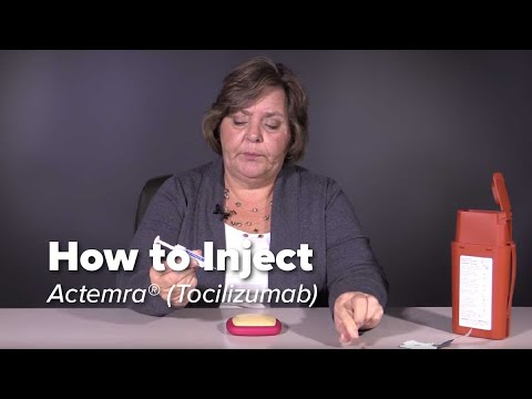 How To Inject Actemra (tocilizumab)