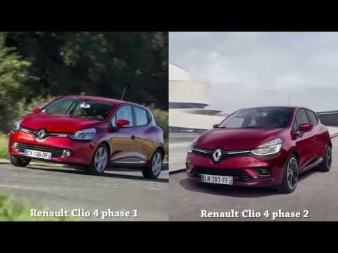 vid o renault clio 4 phase 1 vs renault clio 4 phase 2 l. Black Bedroom Furniture Sets. Home Design Ideas