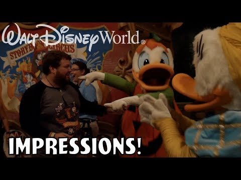 I'VE NEVER SEEN DONALD HAPPIER!! - Disney World Impressions Halloween