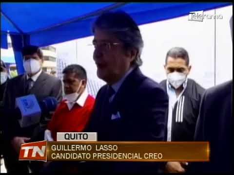 Guillermo Lasso inscribió su candidatura presidencial en el CNE