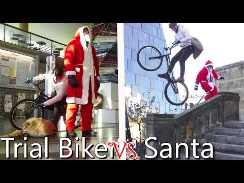 Dont Mess with Santa Claus | Trial Bike Parkour Chase (видео)