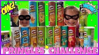 Magic Box Toys Collector presents: Pringles Challenge!!! So many of you asked us to do the Pringles Challenge so here we are with our new video. We will try to guess the flavors of different chips while being blindfolded. Who do you think will win this one? Please post your comments below! Enjoy the show!Thank you again for visiting and please don't forget to share this video with your friends and family : )SUBSCRIBE BUTTON:http://www.youtube.com/c/MagicBoxToysCollectorSurpriseToysSurpriseEggsPlayDohOrbeezHere are our other videos:SHOPKINS SURPRISE EGGS Shopkins Season 4 Sweet Spot Gumball Machinehttps://youtu.be/8zMECGvTPbYBIGGEST SURPRISE EGG Ever! Surprise Toys Eggs Shopkins My Little Pony Doc McStuffins Palace Petshttps://youtu.be/FNLljRlyyvoSURPRISE TOYS GIANT BALLOON POP GIVEAWAY WINNERS ANNOUNCEMENThttps://youtu.be/f02dWmqYwnkBABY ALIVE Snackin' Lily Baby Doll Eats Play-Doh Baby Alive Doll Picnic Brushy Brushy Baby Dollhttps://youtu.be/uxG9NP66IZEDOC McSTUFFINS Pet Vet New Toys Make Me Better Playset Hallie Gets a Color Changing Casthttps://youtu.be/qZ187FqMQWMSHOPKINS SEASON 4 12-Pack Shopkins Season 4 5-Pack Shopkins Season 4 Blind Basketshttps://youtu.be/tIGh0q2fCnkSOFIA THE FIRST Royal Family New Outfits SOFIA THE FIRST Royal Carriage * Carrosse Royalhttps://youtu.be/p9g67lam550MY LIFE AS a School Girl Doll * My Life as a Pop Star Play Set and Accesorieshttps://youtu.be/vPmz1Qfk5QILalaloopsy Girls Candle Slice O'Cake Frosting Dough Decorating Craft Doll * Style'N'Swap Dollhttps://youtu.be/HJTSlOpV6q4BABY ALIVE Better Now Baby Doll Goes to the Doctorhttps://youtu.be/__Bqnt72rU8MY LITTLE PONY POP FLUTTERSHY COTTAGE  My Little Pony RARITY DRESS SHOPhttps://youtu.be/BU3mhXRd0GESOFIA THE FIRST SURPRISE BACKPACK Sofia the First Shopkins My Little Pony Frozen Palace Petshttps://youtu.be/ZYytCIL9b4kBARBIE ORBEEZ SPA SALON STYLE BARBIE ENDLESS HAIR KINGDOM *Shopkins Season 4 Blind Basketshttps://youtu.be/AgyykfXmFigGiant Balloons Surprise Toys Challenge Pop Shopki