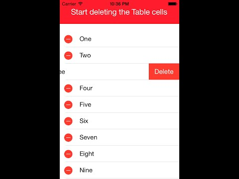 IOS Tutorial- Delete Data And Table Cell…