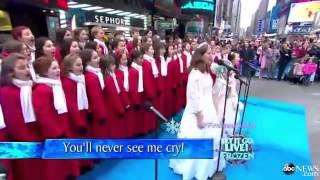 ''Let It Go'' Elsa's song, from Frozen on Good Morning America