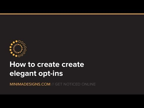 How to create a good looking newsletter signup