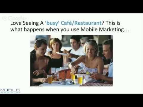 How To Use 3 Easy, Proven Mobile Marketing techniques to boost Cafe & Restaurant Cash Flow