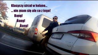 Idiota w SUV-ie atakuje prawidłowo jadącego rowerzystę…