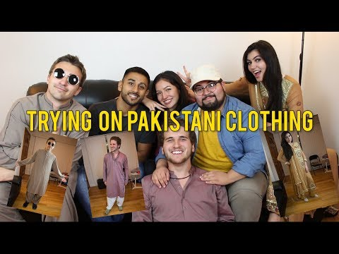 TRYING ON PAKISTANI CLOTHES FOR THE FIRST TIME Ft. REACT CAST