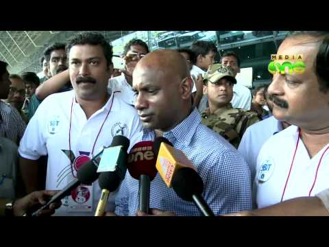 Aravinda de Silva and his Ferrari on Indian TV show
