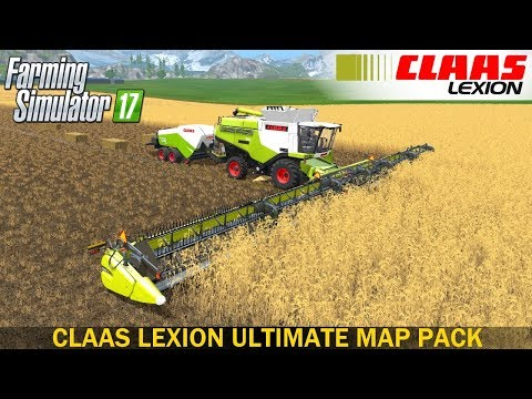 Claas Lexion Ultimate Map Pack v1.0