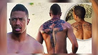 "Nick Cannon New Back Tattoo ""Me & Jesus Ain't Gonna Break Up"""