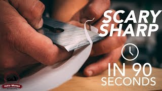 Video How to Get a Hand Plane Blade Scary Sharp in 90 Seconds - Essential Woodworking Skills MP3, 3GP, MP4, WEBM, AVI, FLV April 2019