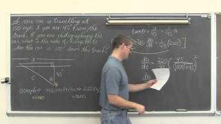 Related Rates Part 2 Linear Vs Angular Velocity