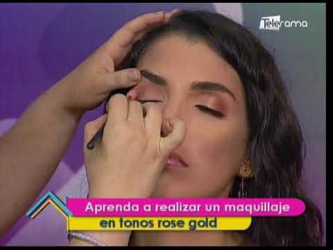 Aprenda a realizar un maquillaje en tonos rose gold
