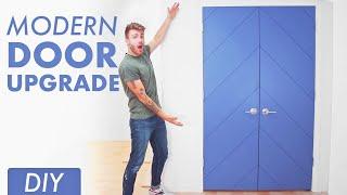 DIY Chevron Door Update // Modern Builds