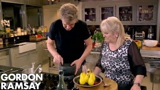 Chilli Poached Pears with Star Anise Dust | Gordon Ramsay by Gordon Ramsay