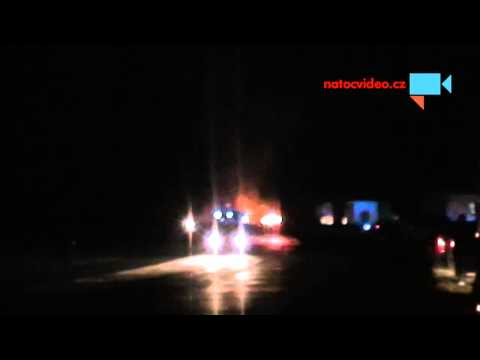 požár nákladního vozidla na D1 mezi km 121.2 a 121 ze dne 23.10.2014 23:21