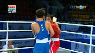 Бокстан ӘЧ.   Қайрат  Ералиев (56 кг)  Омурбек Малабековке қарсы