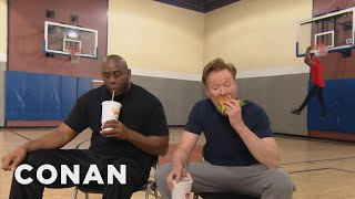 Video Conan Plays Horse With Magic Johnson  - CONAN on TBS MP3, 3GP, MP4, WEBM, AVI, FLV Desember 2018