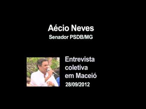 Aécio Neves responde a críticas durante entrevista em Maceió