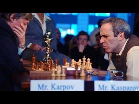 шахматы карпов каспаров партии видео