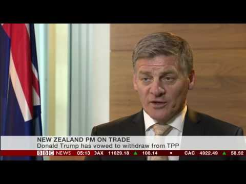 New New Zealand Prime Minister Bill English on what he thinks about President Elect Donald Trump