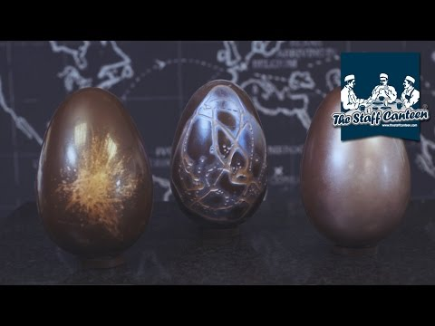 How to make and decorate chocolate Easter Eggs by Mark Tilling