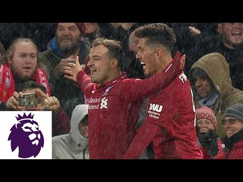Xherdan Shaqiri's Powerful Strike Puts Liverpool Ahead V. Man United | Premier League | NBC Sports