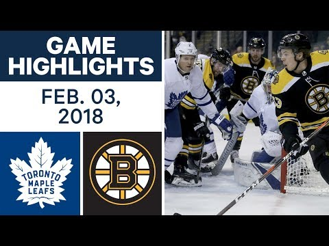 Video: NHL Game Highlights | Maple Leafs vs. Bruins - Feb. 03, 2018