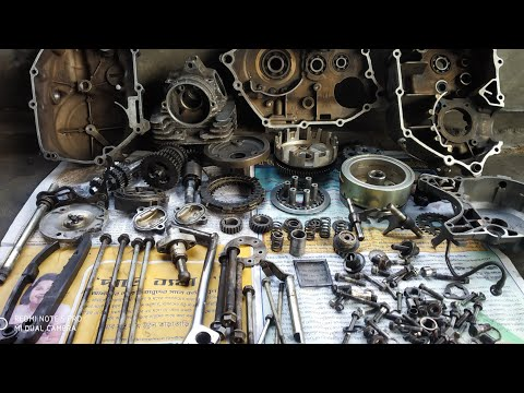 Bajaj platina full engine and gearbox sitting and  details