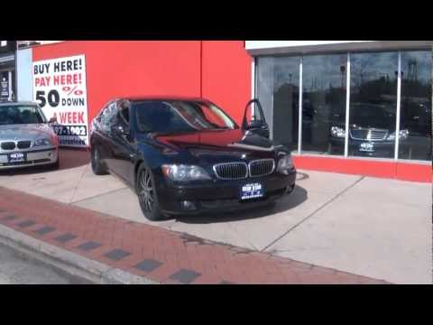 2006 BMW 7-Series 750Li Luxury Sedan Rear Entertainment Package