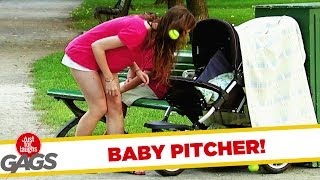 Hall of Fame Baby Pitcher Gag