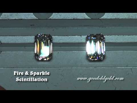 GIA Colorless Emerald Cut Diamond Comparison