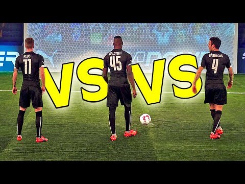 Video: Mario Balotelli beats Marco Reus and Cesc Fabregas in evoPower Challenge