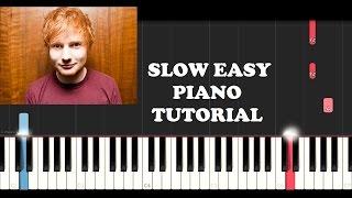 Video Ed Sheeran - Castle On The Hill (SLOW EASY PIANO TUTORIAL) download in MP3, 3GP, MP4, WEBM, AVI, FLV Mei 2017