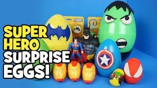 Avengers Toys - Play-doh Surprise Eggs w/ Imaginext Batman Toys Avengers & Spiderman Toys by KidCity